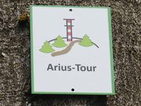 Markierung Arius-Tour