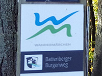 Markierung Battenberger Burgenweg