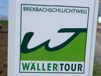 Markierung Wäller Tour Brexbachschluchtweg