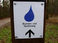Markierung Brunnen- und Quellenweg