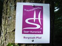 Markierung Burgstadt-Pfad