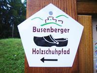 Markierung Busenberger Holzschuhpfad