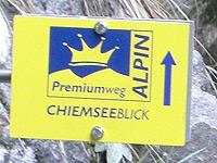 Markierung Chiemseeblick