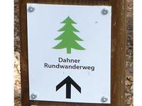 Markierung Dahner Rundwanderweg
