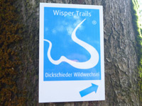 Markierung Dickschieder Wildwechsel