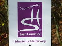 Markierung Edelsteinschleiferweg