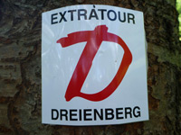 Markierung Extratour Dreienberg