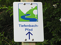Markierung Tiefenbach-Pfad