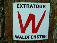 Markierung Extratour Waldfenster