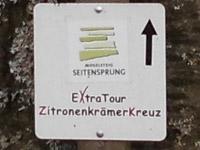 Markierung Extratour Zitronenkrämerkreuz