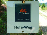 Markierung Gebirger-Höfe-Weg