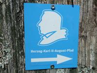 Markierung Herzog-Karl-II-August-Pfad