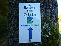 Markierung Hochbergsteig