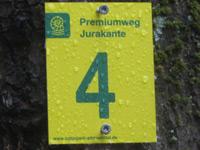 Markierung Jurakante