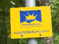 Markierung Klausenbachklamm