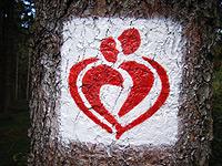 Markierung Liebesbankweg