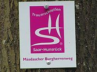 Markierung Masdascher Burgherrenweg
