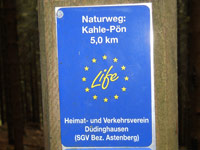 Markierung Naturweg Kahler Pön