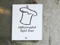 Markierung Tafel-Tour Offizierspfad Imsbach