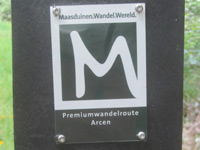 Markierung Premiumwandelroute Arcen