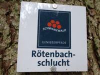 Markierung Rötenbachschlucht