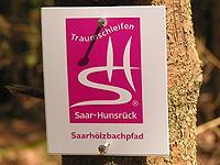 Markierung Saarhölzbachpfad