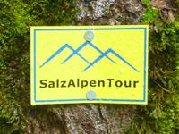 Markierung SalzAlpenTour Ramsauer Schattseitweg
