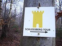 Markierung Schlossbergtour