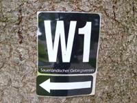 Markierung Schwedensteig-Heidenstraße
