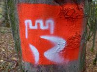 Markierung St.-Oswald-Schleife