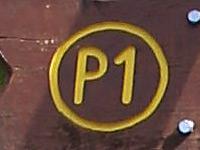 Markierung Hoher Meißner P1