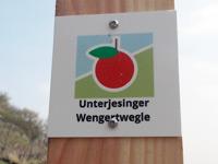 Markierung Unterjesinger Wengertwegle