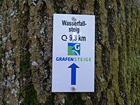 Markierung Wasserfallsteig