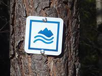 Markierung Wasserläufer Stuibenfall