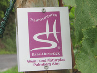 Markierung Wein- und Naturpfad Palmberg