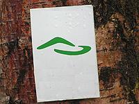 Markierung Zweiburgen-Extratour